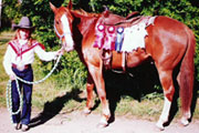 Donna Walker - horseshows at an early age - click to enlarge