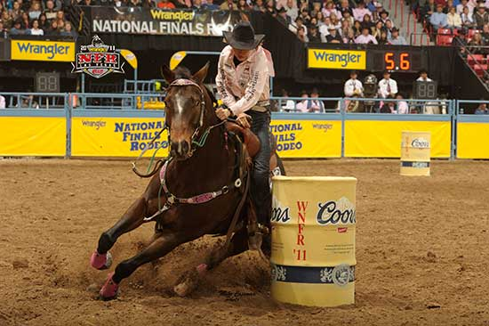 RC Brooks A Streakin and Jane Melby - National Finals Rodeo